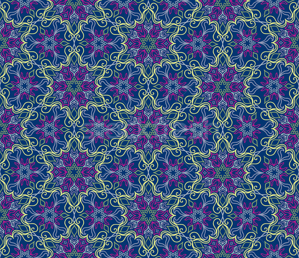 Floral seamless pattern Flourish tile oriental ethnic background Stock photo © Terriana