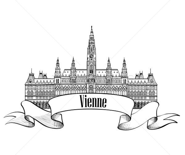 Vienne ville célèbre repère signe Voyage Photo stock © Terriana