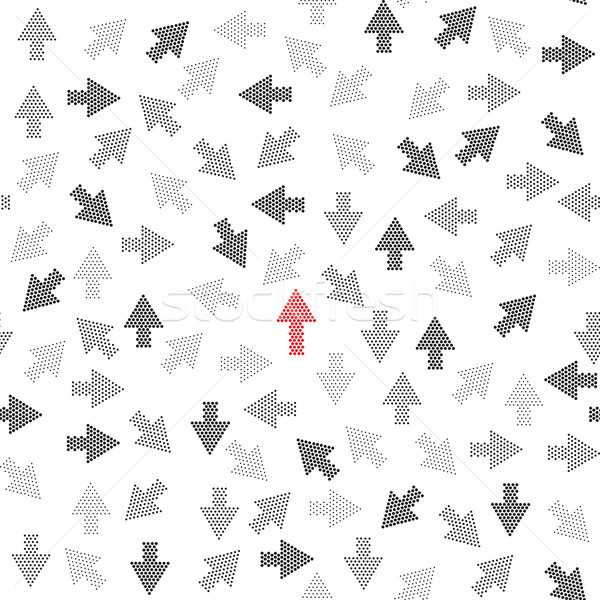 Arrow going up growth concept background. Seamless pattern Stock photo © Terriana