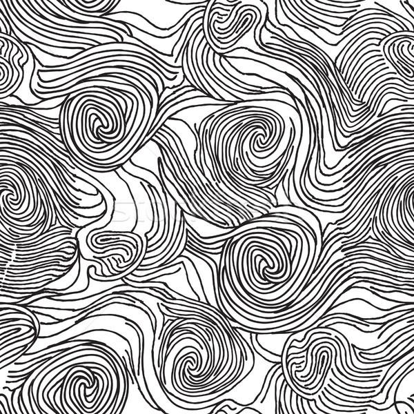 Abstract turbinio caotico line doodle Foto d'archivio © Terriana