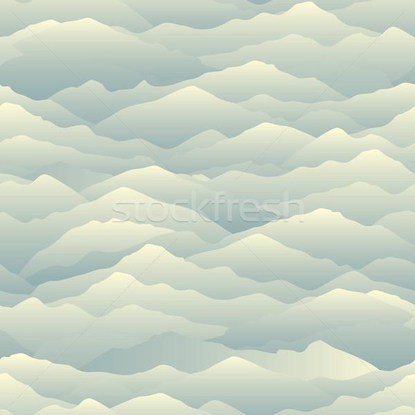 Mountain skyline seamless pattern. Abstract wavy background. Nat Stock photo © Terriana