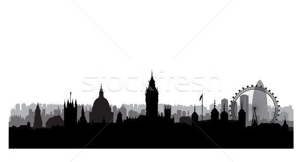 London city skyline with Westminster palace and famous landmarks Stock photo © Terriana