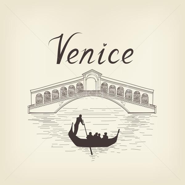 Venice famous place view Travel Italy background. City bridge. Stock photo © Terriana