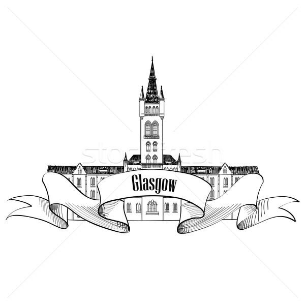 Viaje Escocia signo Glasgow ciudad Universidad Foto stock © Terriana