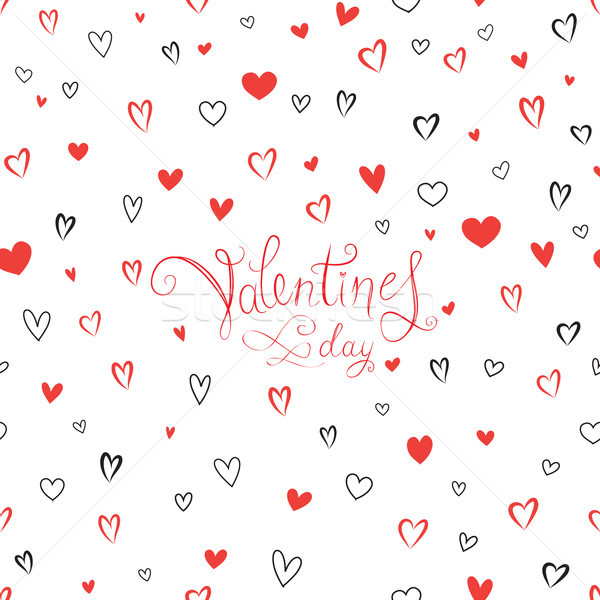 Valentine's day greeting card with love hearts pattern. Romantic Stock photo © Terriana