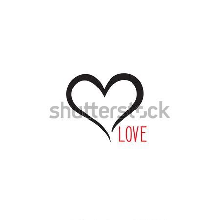 Liefde hart gift card valentijnsdag vakantie Stockfoto © Terriana