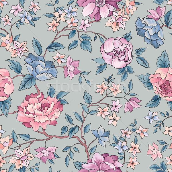 Floral seamless pattern. Flower background. Ornamental garden fl Stock photo © Terriana