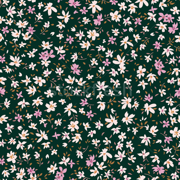 Floral seamless pattern. Abstract ornamental flowers. Flourish d Stock photo © Terriana