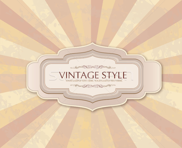 Vintage frame over retro textured background Stock photo © Terriana