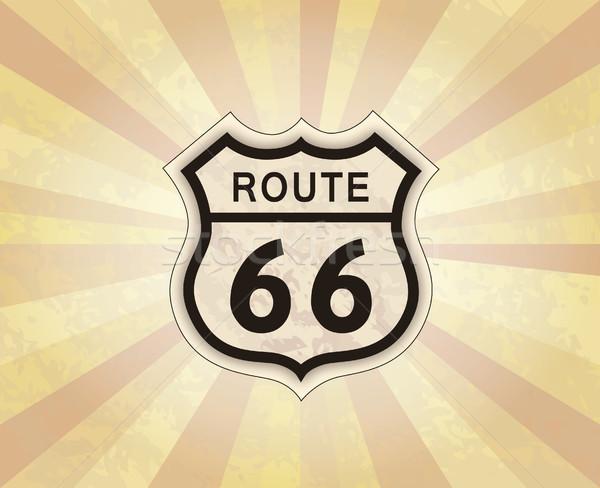 Route 66 assinar americano estrada ícone viajar Foto stock © Terriana