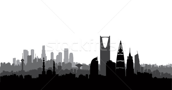 Riyadh city skyline. Cityscape silhouette, landmarks. Urban background Stock photo © Terriana