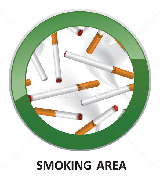 Smoking area label. Smoking Area Icon. Vector Info Sign. Stock photo © Terriana