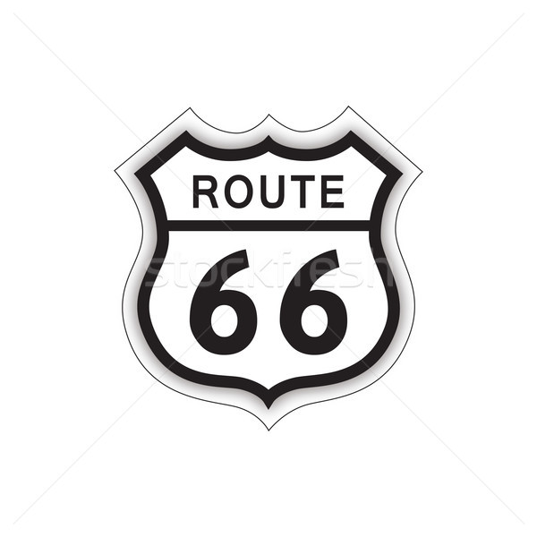 Stock photo: Travel USA sign. Route 66 label. American road icon