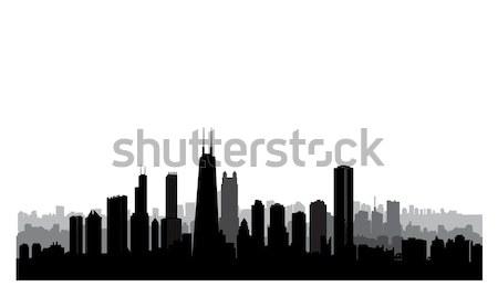 Chicago város épületek sziluett USA városi Stock fotó © Terriana