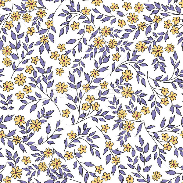 Floral seamless pattern with flowers and leaves.Ornamental backg Stock photo © Terriana