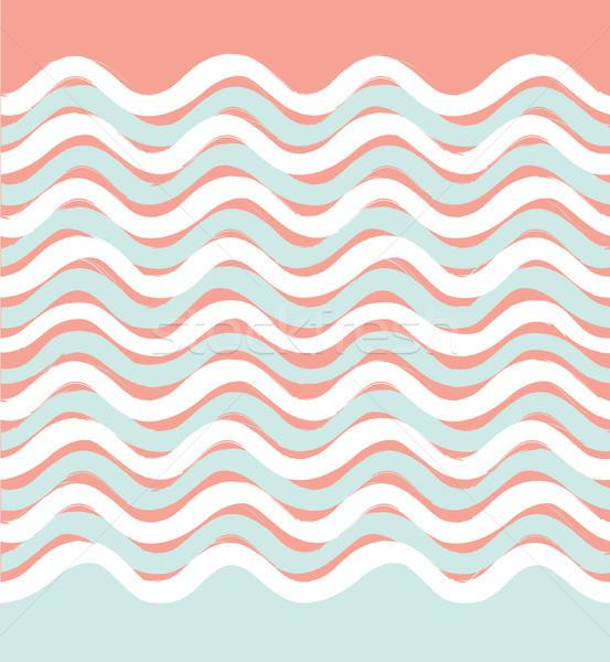 抽象的な 波 波状の 幾何学的な スタイリッシュ ストックフォト © Terriana