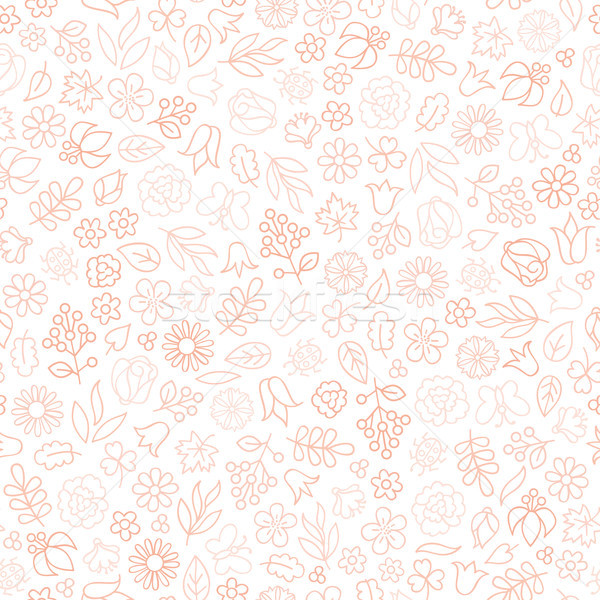 Flower icon seamless pattern. Floral leaves gentle background. N Stock photo © Terriana
