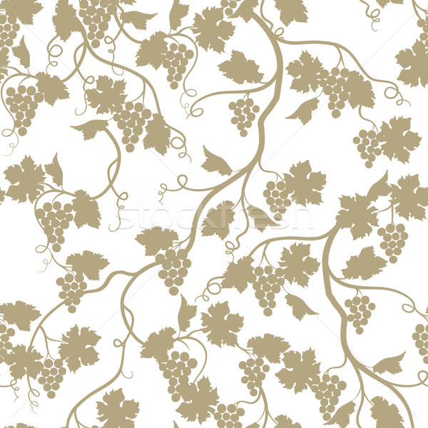 Grape garden seamless pattern. Nature branch background. Wine fa Stock photo © Terriana