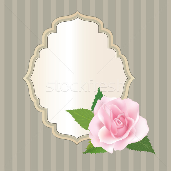 Floral background. Flower bouquet cover. Flourish greeting card Stock photo © Terriana
