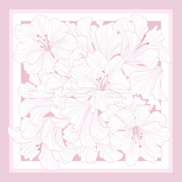 Floral pattern decor for silk tiussiue. Flower background Stock photo © Terriana