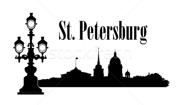 Saint-Petersburg city, Russia. St. Isaac's cathedral skyline. Russian travel background. Stock photo © Terriana