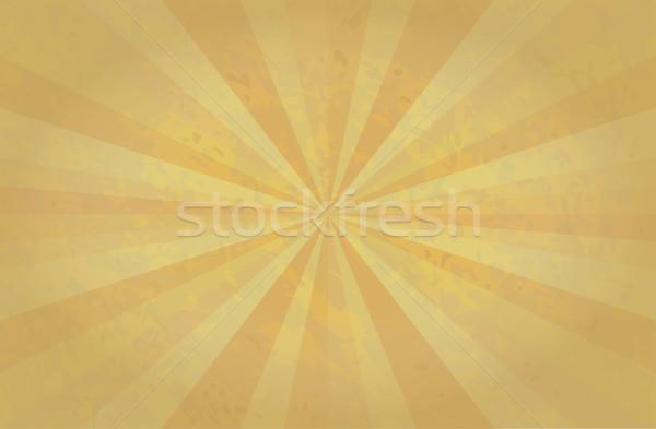 Soyut Retro retro desen güneş turuncu Stok fotoğraf © Terriana
