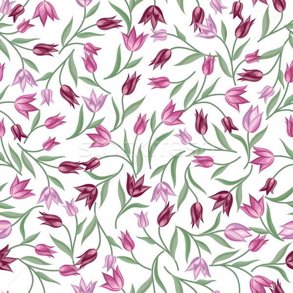 Virágmintás végtelen minta virág tavasz textúra minta Stock fotó © Terriana