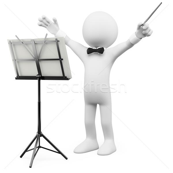 3D orkiestrę świadczonych wysoki Zdjęcia stock © texelart