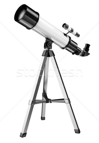 3D telescopio aislado blanco cielo Foto stock © texelart