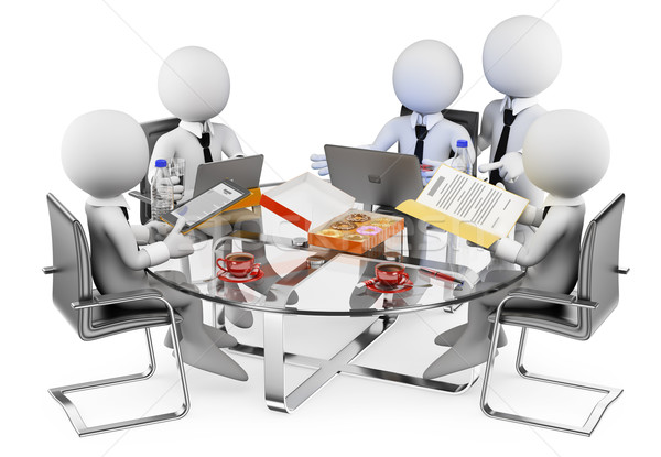 3D white people. Business informal meeting Stock photo © texelart