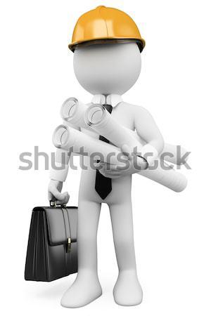 Criminelle fusil rendu élevé résolution blanche Photo stock © texelart