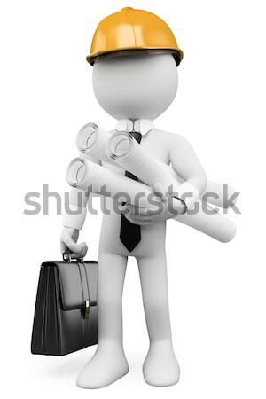 White-collar criminal with a gun Stock photo © texelart