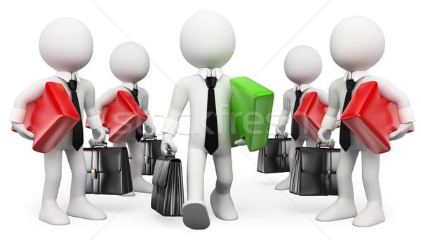 3D white people. Entrepreneur. Leader. Businessman Success Stock photo © texelart