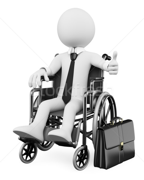 3D business white people. Handicapped businessman Stock photo © texelart