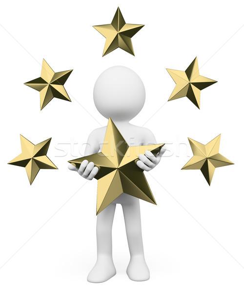 3D белые люди премия звезды белый человек Сток-фото © texelart