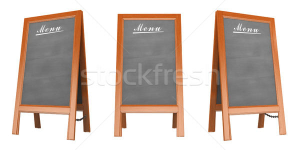 3D Blank menu poster Stock photo © texelart