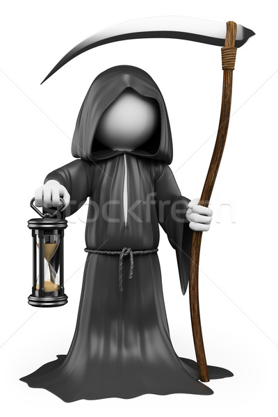 3D white people. Halloween. The Grim Reaper Stock photo © texelart