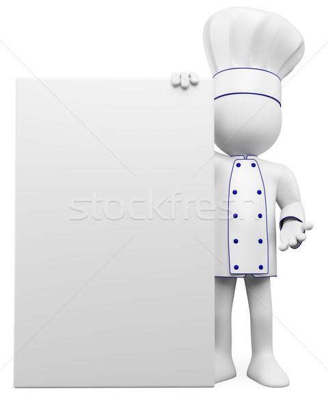 Zdjęcia stock: 3D · gotować · plakat · świadczonych · wysoki