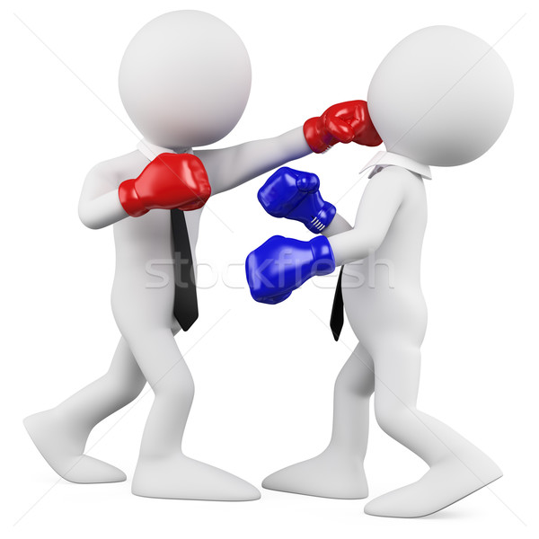 Businessmen in a boxing match Stock photo © texelart