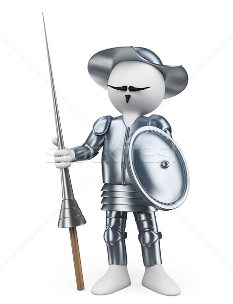 3D white people. Don Quixote of la Mancha Stock photo © texelart