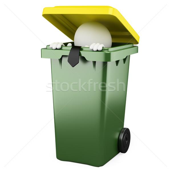 Сток-фото: бизнесмен · сокрытие · мусор · оказанный · высокий