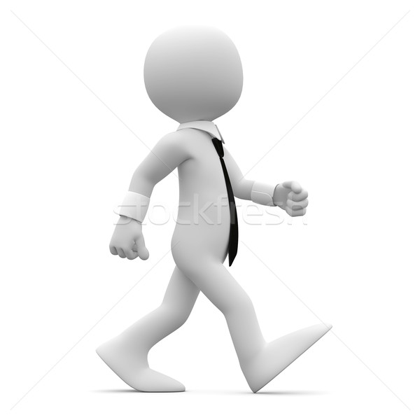 Man walking with suit and tie Stock photo © texelart