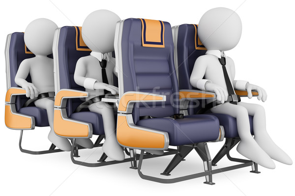 3D white people. Business people on a air travel Stock photo © texelart