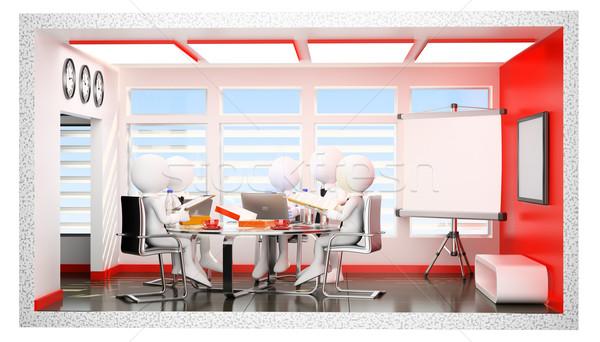 3D los blancos diario oficina vida Foto stock © texelart