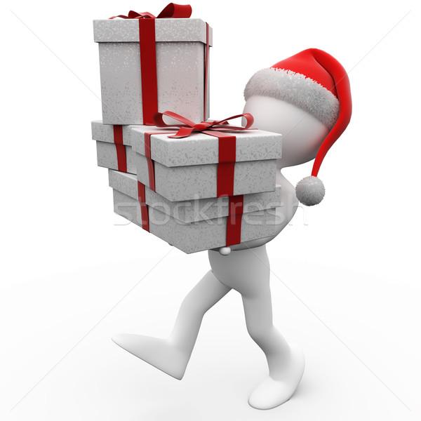 Сток-фото: Рождества · подарки · Дед · Мороз · Hat · оказанный
