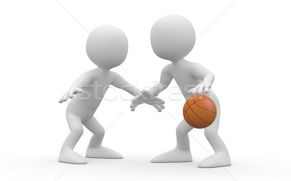 два баскетбол один оказанный высокий Сток-фото © texelart