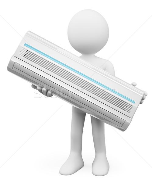 3D 白の人々 空調装置 孤立した 白 抽象的な ストックフォト © texelart