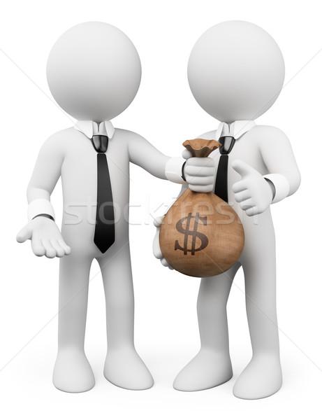 3D fehér emberek kölcsön üzlet metafora férfi Stock fotó © texelart
