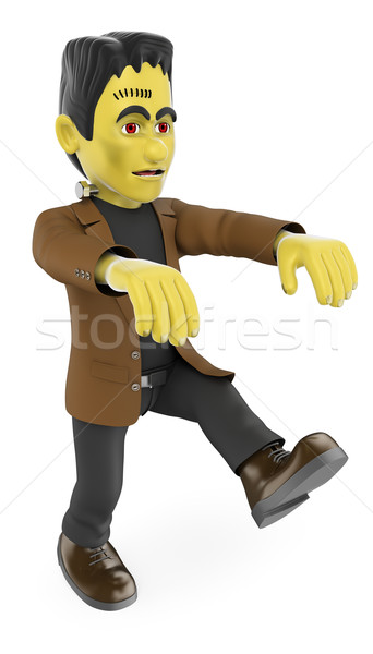 3D Funny monster. Frankenstein walking. Halloween Stock photo © texelart