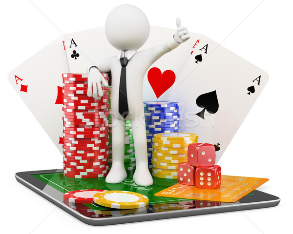 3D Man - Casino online games Stock photo © texelart